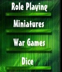 Role playing, Miniatures, war games and dice